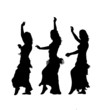 East dancers silhouette