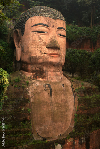 The Big Buddha of Leshan, Sichuan in China