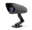 Security black camera surveillance 3D.  Safety concept. Isolated