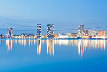 Skyline in pastel, Almere, Holland