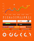 elements of infographics and icons to transport poster