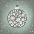 Beautiful Christmas ball illustration. EPS 8