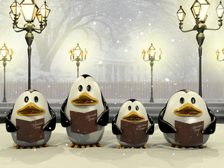 Penguin Christmas chorus