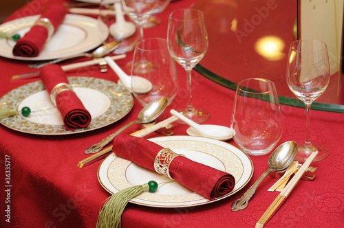 Chinese wedding table set