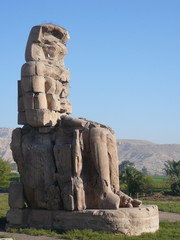 Memnon colossi Valley of the Kings