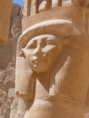 Hatchepsut's temple column detail
