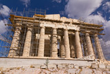 Parthenon, Acropolis with visible the ongoing restoration work poster