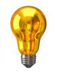 Golden light bulb