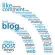 BLOG Tag Cloud (social networking internet web button rss icon)