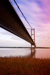 view of underside of humber bridge