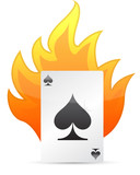 Ace of Spades on fire. illustration design