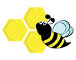 Пчела с сотами