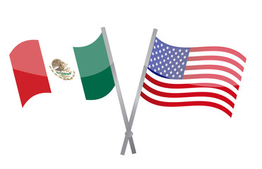 American and Mexican alliance and friendship