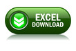 Excel download button, vector illustration