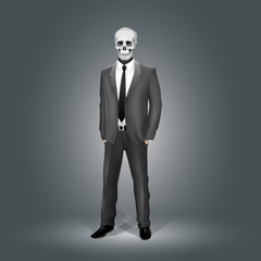 Businessman with Skull Head