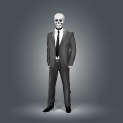 Businessman with Skull Head