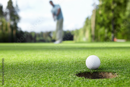 canvas print picture Playing golf
