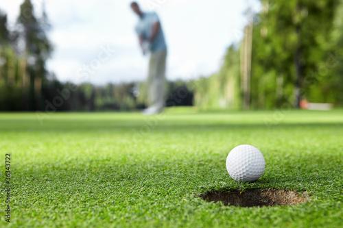 Leinwanddruck Bild Playing golf