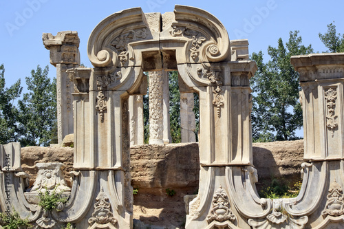 Ancient Gate Ruins Pillars Old Summer Palace Yuanming Yuan Beiji