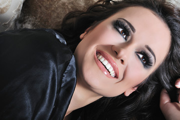 beautiful sexy woman closeup