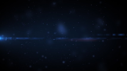 Dust in space with flares and twitching in HD.