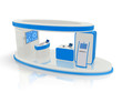 rendered design concept of a tradeshow stand.