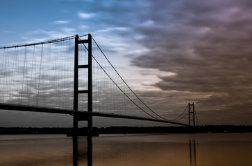 moody skies over humber bridge