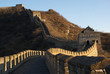 No people on the Great Wall in China in the early morning