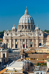 San Peter square, Rome, Italy.