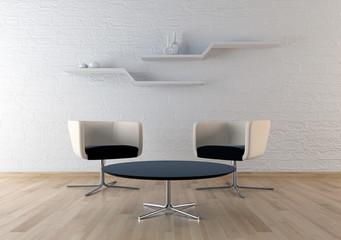 Interno con sedie