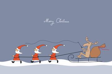 """Weihnachtsgrüße """"Die Weihnachtsmänner kommen"""""""