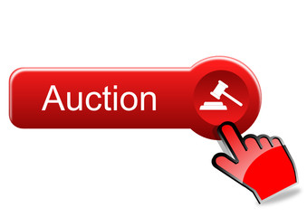 Auction button with red hand