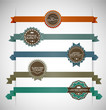 Vector illustration of vintage retro labels | EPS10 Compatibilit