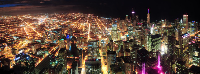 Chicago Night view panorama