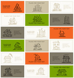 Business cards with houses for your design