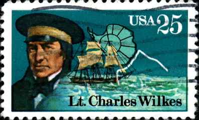 Lt Charles Wilkes. US Postage.