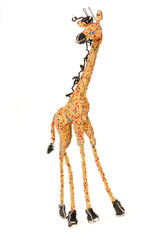 Wire and beadwork giraffe