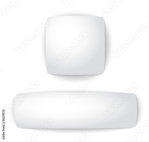 Blank convex web buttons. Vector illustration.