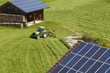 Leinwanddruck Bild - Verschiedene Solaranlagen