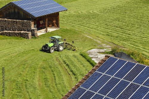 Leinwanddruck Bild Verschiedene Solaranlagen