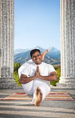 Yoga eka pada shirasana