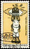 Native American craftsmanship on post stamp poster