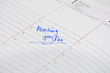 Meeting im Kalender notiert
