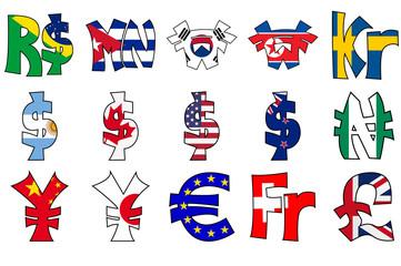 simboli valuta/bandiere