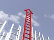Ladder of acheivment. success and persistence concept