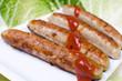 Rostbratwurst mit Ketchup