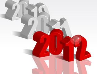 2010, 2011, 2012 nuovo anno