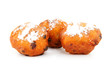 Three Dutch donut also known as oliebollen