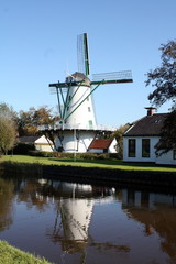 Corn mill in Ten Boer in the Netherlands