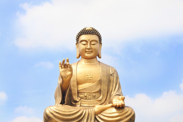 Kind of Buddha and the sky